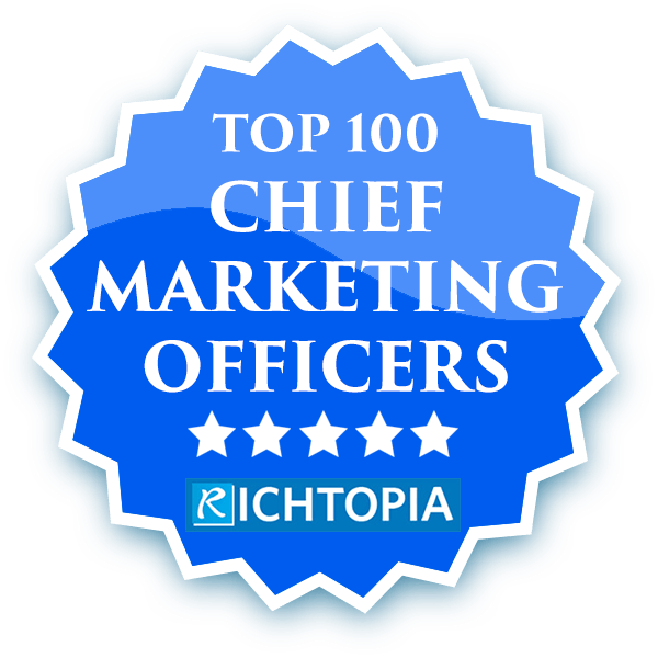 Deborah Collier is one of Top 100 Chief Marketing Officers: Most Influential CMO's in the World